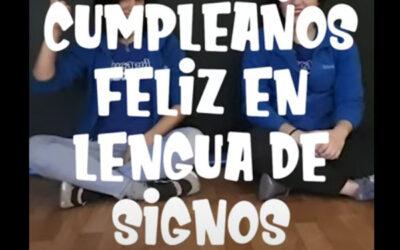 Cumpleaños Feliz en Lenguaje de Signos
